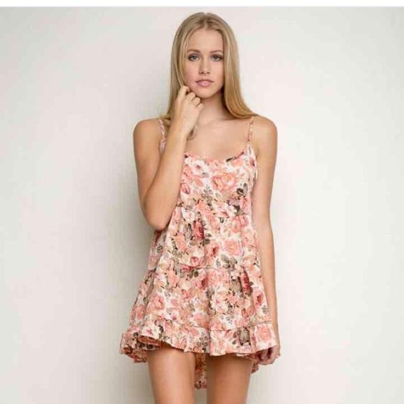 474365bfcdc4 Brandy Melville Dresses   Skirts - Brandy Melville Jada Dress White Pink  Roses
